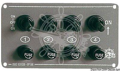 Panel Electrico Horizontal En 4 Interruptores para Barco 1470700
