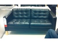 IKEA 2 seat leather sofa