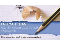 Tutor: KS2, 11+ and Maths GCSE