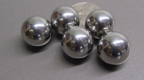 "316 Stainless Steel Ball 5/8"" (+/-0.0005"") Dia,  5 pcs"