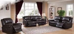 2 PC TOP GRAIN GENUINE LEATHER RECLINER SOFA SET $3298
