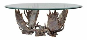 Unique  Coffee Table One of a Kind  Iron Antler Base