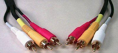 6' Triple RCA Male/Male Composite Audio/Video cable 6 Composite Audio