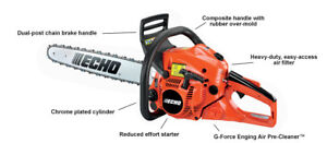 Echo CS-490 50cc chainsaw on sale at $399 and 5 year warranty