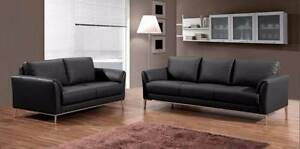 Marlene 2 seat black leather lounge sofa couch $2009 Queenstown Port Adelaide Area Preview