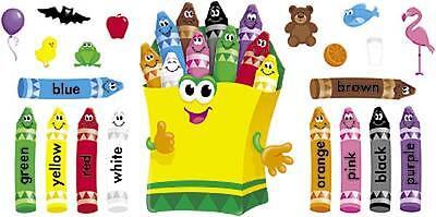 Colourful Crayons Bulletin Board Large Classroom Display banner Set