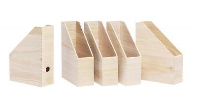 5er-Pack Stehsammler aus Holz von VBS Box Steh-Ordner mit Griffloch