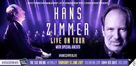 [2x tickets together] Hans Zimmer Live on Tour 2017 concert The SSE Arena Wembley