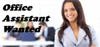 Office Assistant wanted (Good English Speaking Skills) Brampton