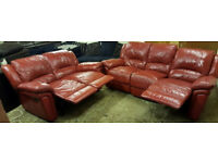 3 and 2 seater recliner sofas. delivery available