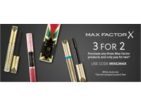 Max Factor 3 for 2 or any allbeauty order request - discount 5% extra Free !