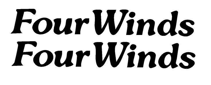 """PAIR OF 5"""" x 35"""" FourWinds RV Decals. MARINE GRADE. YOUR COLOR CHOICE 63"""