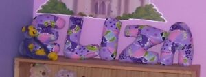 *Decorative Pillows in shape of Letters *ELIZA* FOr Sale. MINT C