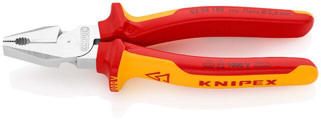 KNIPEX VDE 02 06 180 Kraft-Kombizange 180 mm