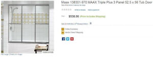 Maax bathtub shower door - BRAND NEW,  never used