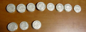 Canadian Silver Coins- 50 Cents - King George -39 coins