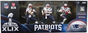 Mcfarlane 3 pack new england patriots superbowl 49