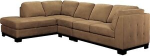 Microsuede Sectional with Ottoman