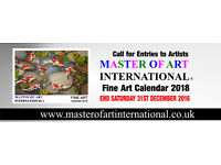 Call of Entries to Artists: END SATURDAY 31ST DECEMBER 2016