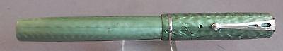 """Esterbrook """"Dollar Pen"""" 2-Hole Clip-green--1551 Firm medium cut to left oblique"""