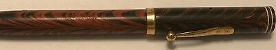 Waterman No 7 Red Ripple with Experimental Black Ripple Color Cap