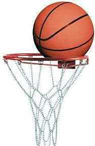 Poizon Professional Chain Basketball Ring with Size 7 Ball - Metal Hoop Net