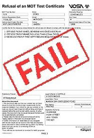 Mot failure repairs