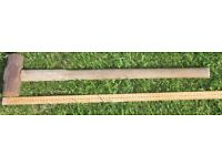 5lb Sledge Hammer with wooden shaft