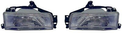 88 - 92 Toyota Corolla Headlight Pair Set Both NEW Sedan & 2WD Wagon Only