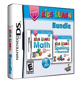 KIDS LEARN: MATH and SPELLING BUNDLE (NDS, DSi XL, 2013) (1076)