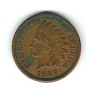 Coin 1907 USA 1 Cent Penny