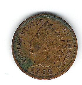Coin 1905 USA 1 Cent Penny Kingston Kingston Area image 3