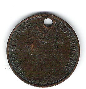 Coin 1866 Great Britain Farthing
