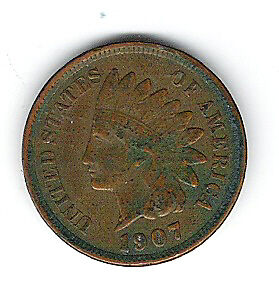 Coin 1907 USA 1 Cent Penny Kingston Kingston Area image 3