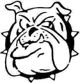 Angry Bulldog Dog Cartoon Face Car Decal Sticker | eBay
