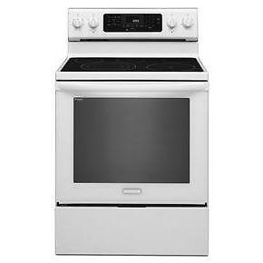 SPECIAL PRICE! 30'' White stove, Ceramic glass, Convection, KitchenAid