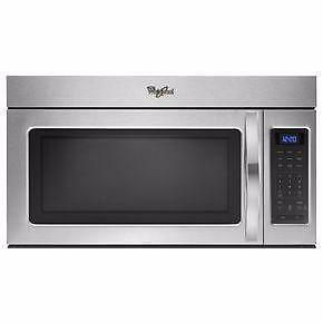 30'' Microwave hood combination, 220 CFM, Stainless, Whirlpool