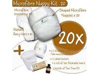 Little Lamb Microfibre Nappy Kit