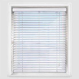 2 x white wooden venetian blinds
