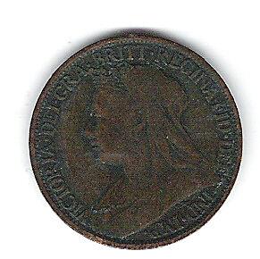 Coin 1898 Great Britain Farthing Kingston Kingston Area image 1