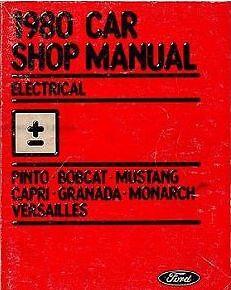 1980-Ford-PINTO-ELECTRICAL-Repair-Service-Shop-Manual-DEALERSHIP-NICE-BOOK-80