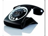 Sixty DigitalCordless Retro Style Telephone - Black
