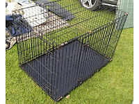 Extra-large portable metal dog crate