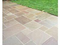Autumn Brown Indian stone paving