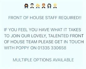 Waiting Staff & Kitchen Assistants Wanted