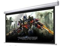 "projector screen 92"" motorised/electric with remote control"