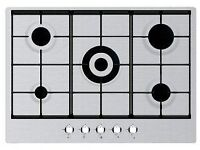 HOME KING 70 CM 5 BURNER GAS HOB-SILVER-NEW