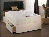 BEST Orthopaedic Bed Deals - Double UK MADE Orthopaedic mattress +Pre Assembled Bed - Quick Delivery