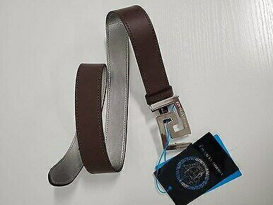 """NWT Young Versace Unisex Boys Girls Brown Leather Belt 31"""""""