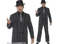 GANGSTER FANCY DRESS SIZE L/XL GREAT GOMEZ ADDAMS FAMILY JACK FROM NIGHTMARE BEFORE CHRISTMAS